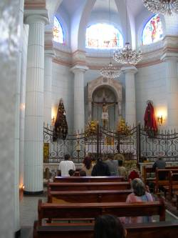 El altar dedicado al Cristo de La Grita en la basílica de La Grita